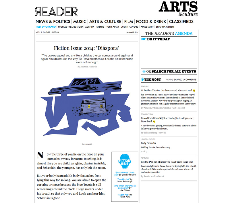 editorial fiction illustration chicago reader