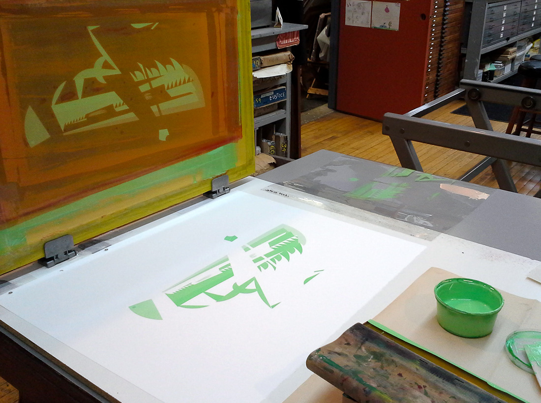 grasshopper original screenprint